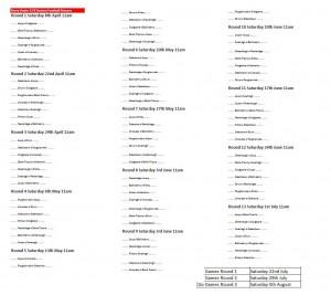 u12 league fixtures